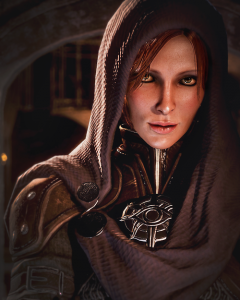 There is nothing left of the young bard Leliana we saw in Dragon Age Origins in this master spy.