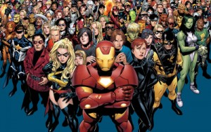 All these heroes belong to Marvel.